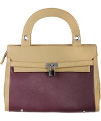 YooY Luxusní kabelka s přívěškem fialová