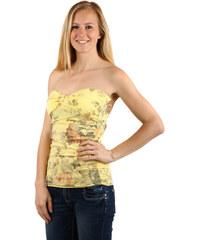 YooY Top s květinovým vzorem žlutá