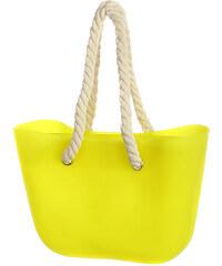 YooY Módní kabelka s provazy světle šedá