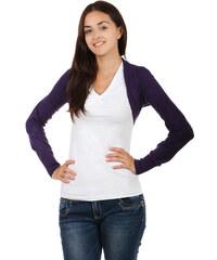 YooY Módní svetrové bolerko s dlouhým rukávem fialová