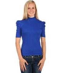 TopMode Dámské elegantní tričko s rolákem (modrá 85df2e05fd