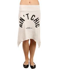 YooY Netradiční sukně s cípy béžová