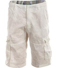 YooY Stylové pánské kraťasy s kapsami bílá