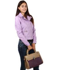 YooY Luxusní bundička se zipem na straně fialová