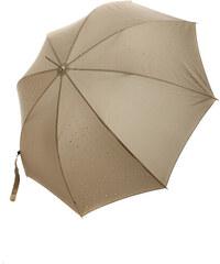 YooY Stylový vystřelovací deštník s kamínky tmavě hnědá