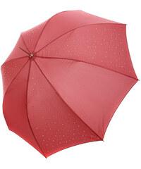 YooY Stylový vystřelovací deštník s kamínky starorůžová