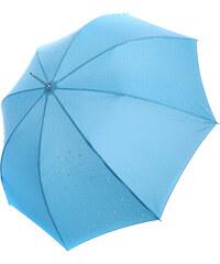 YooY Stylový vystřelovací deštník s kamínky modrá