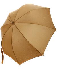 YooY Stylový vystřelovací deštník s kamínky hnědá