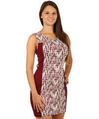 d530e76c593 TopMode Elegantní šaty s moderním potiskem (červená