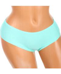 YooY Bezešvé kalhotky s krajkou na zadním dílu zelená