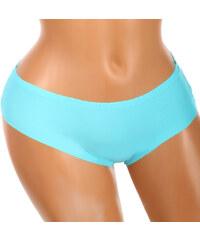 YooY Bezešvé kalhotky s krajkou na zadním dílu modrá