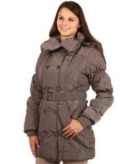 YooY Krásná dlouhá bunda pro plnoštíhlé šedá