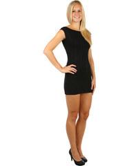 Glara Dámské večerní pletené mini šaty na zip 690e94976e