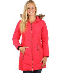 YooY Příjemná a stylově zdobená bunda delšího střihu růžová