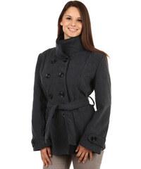 YooY Zajímavý kabát s kontrastním lemováním a s moderním límcem šedá