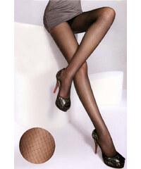 YooY Dámské punčocháče s jemným vzorem černá