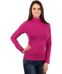 YooY Dámské tričko s rolákem - i pro plnoštíhlé (fialová c0957055ee