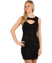 Glara Krátke spoločenské šaty s flitrami na ples 08bf2936c95
