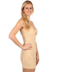 1eb4099638c4 Glara Vrúbkované krátke šaty bez ramienok