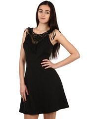 Glara Krátké černé šaty s krajkou effe7b0d01