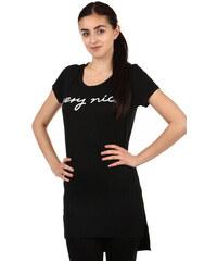 83d32bc2f91 YooY Dámské dlouhé triko s rozparky (černá