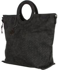 YooY Moderní kabelka se vzorem krokodýla černá