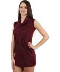YooY Dámské zimní šaty bez rukávů (červená 3866a6ad6c
