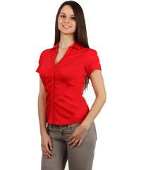 Glara Klasická dámska košeľa - krátky rukáv 421327386d3
