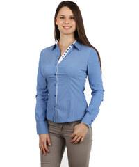 YooY Úžasná košile na knoflíky s kontrastními prvky modrá