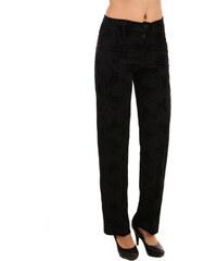 YooY Elegantní dámské kalhoty se vzorem černá