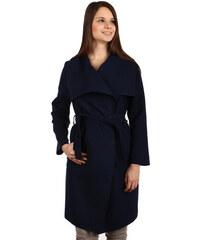 YooY Dlouhý kabát - kardigan s páskem modrá