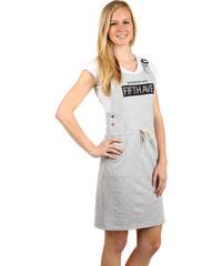 36c732448418 TopMode Pohodlné letní šaty s nápisem