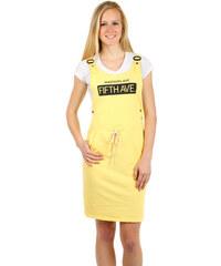 f4788aec46c TopMode Pohodlné letní šaty s nápisem (žlutá