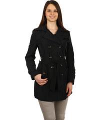 YooY Úžasný kabátek na knoflíky černá