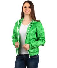 YooY Stylová puntíkatá bundička zelená