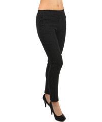 YooY Dámské puntíkované business kalhoty (černá 0de9af3c0a