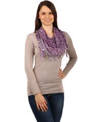 YooY Moderní šátek s ornamenty fialová