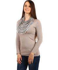 8a6a602f5dc TopMode Moderní šátek s ornamenty (světle šedá