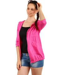YooY Ležérní sako s kapucí a kapsami růžová