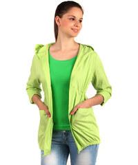 YooY Ležérní sako s kapucí a kapsami zelená