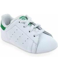 Chaussons de naissance Bébé garcon Adidas Originals en Cuir Blanc