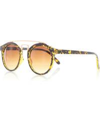 Rayflector Hnědo-žluté sluneční brýle Chiara