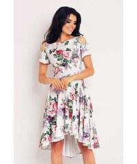 Infinite You Smetanovo-růžové květované šaty M104