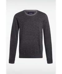 Pull fin homme col rond Noir Coton - Homme Taille L - Bonobo