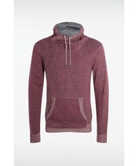 Pull homme col montant maille bicolore Rouge Coton - Homme Taille L - Bonobo