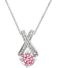 Lesara Halskette mit eingefasstem Swarovski Elements - Pink