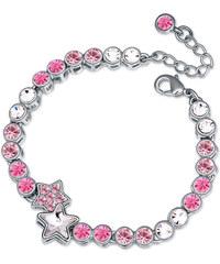 Lesara Armband mit Sternen-Anhänger & Swarovski Elements - Pink