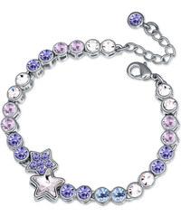 Lesara Armband mit Sternen-Anhänger & Swarovski Elements - Violett