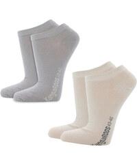 Lesara 8er-Set Kangaroos Sneaker-Socken - Grau und Beige - 39-42