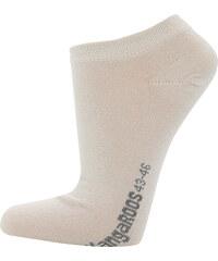 Lesara 2er-Set Kangaroos Sneaker-Socken - Beige - 39-42